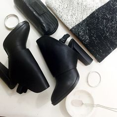 """Final Price: Vince Open Back Shield Booties Details: • Size 9 • Leather • Open back  • Adjustable ankle strap • 4"""" heel • Brand new in box   01071619 Vince Shoes Ankle Boots & Booties"""
