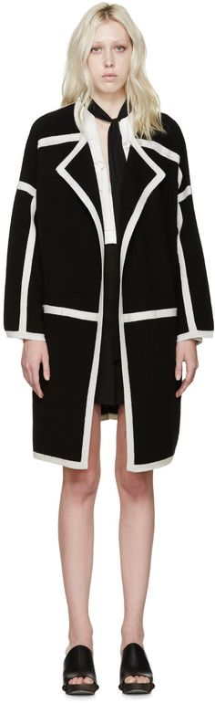 Image of Chloé Black Knit Cashmere Iconic Coat