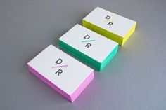 Love this theme for business cards / personal stationary. -- Personal Identity - Daniel Renda