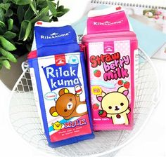 Rilakkuma Flavored Milk Carton Pencil Case