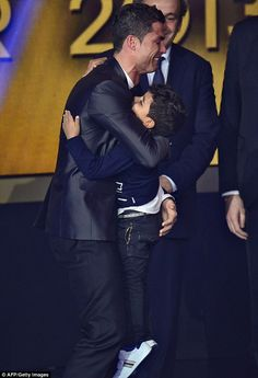 Cristiano Ronaldo and his son