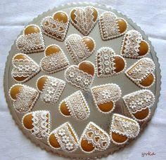 <3 Lace Cookies, Heart Cookies, Sugar Cookies, Valentine Cookies, Easter Cookies, Christmas Cookies, Ginger Bread Cookies Recipe, Cookie Recipes, Biscuits