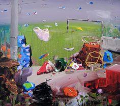 Original Landscape Painting by Edith Torony Original Paintings, Original Art, Garden Of Earthly Delights, Hieronymus Bosch, Recycling Bins, My Works, Archaeology, Surrealism, Mythology