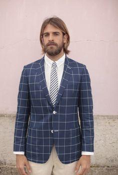 What do you think about this beautiful windowpane blazer jacket? - J. LISBON