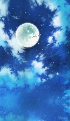 Người Hầu của ta là Ma Vương chap 1 - Trang 3 Star Sky, Moonlight, Anime Characters, Concept Art, Anime Art, Japan, Landscape, World, Wallpaper