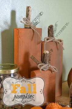 Easy DIY fall decorations! They will fit on my narrow mantle too!