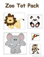 Lots of zoo printables for toddlers from @2 Teaching Mommies