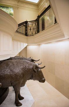Philadelphia Pennsylvania Mormon Temple - 12 oxen (representing 12 Tribes of Israel) support the baptismal font.