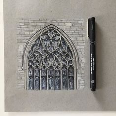 #art #drawing #pen #sketch #illustration #linedrawing #architecture #church #churchwindow #gothic #gothicarchitecture #stainedglass #stainedglasswindow