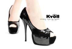 [$23.15]Designer shoes wholesale glitter peep toe pumps D63401