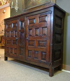 19th Century Spanish Antique Oak Buffet from nicolemaleineantiques on Ruby Lane
