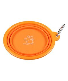 Take a look at this Smart Dog USA Orange Collapsible Travel Bowl by Pampered Pets Collection on #zulily today!