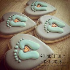 Baby shower boy cupcakes sugar cookies Ideas for 2019 Fancy Cookies, Iced Cookies, Cute Cookies, Royal Icing Cookies, Cookies Et Biscuits, Cupcake Cookies, Heart Cookies, Royal Frosting, Baby Boy Cookies