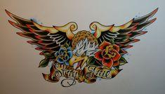 Stay True Eagle Tattoo Design