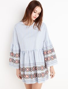 Lydia Striped Babydoll Dress  fashion  pixiemarket Blouse Dress 953b8d950