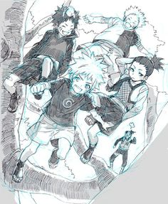 The fact that they all would get in trouble together when they were little kids, but then they became genin and they acted like they didn't know each other makes me laugh XD
