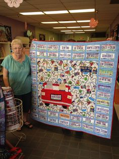 Carolyn made this Road Trip quilt with her license plates from 2015.