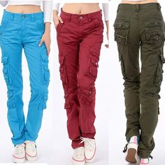 2015 womens casual outdoor sport joggers denim harem cargo pants Military army fatigue jeans trousers hip hop baggy sweat pants-in Pants & Capris from Women's Clothing & Accessories on Aliexpress.com | Alibaba Group