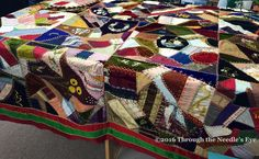 Beautiful crazy quilt, made in 1890. Telling Stories Through the Needle's Eye: Crazy Quilts, Session 3