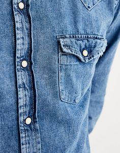 Camisa denim cowboy - Denim - Camisas - Ropa - Hombre - PULL&BEAR España