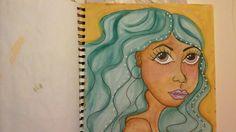 Caran d'ache neocolour crayons Art journal by mzqtz Tanya S
