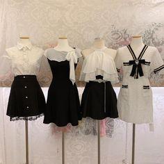 Kpop Fashion Outfits, Ulzzang Fashion, Stage Outfits, Korean Outfits, Cute Fashion, Kawaii Fashion, Dress Outfits, Girl Fashion, Fashion Dresses