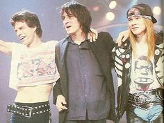 Izzy, Axl and Mick Jagger