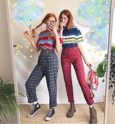 Tag your best friend ❤️🌈 Grunge Outfits, Mode Outfits, Retro Outfits, Stylish Outfits, Vintage Outfits, Vintage Fashion, Alternative Outfits, Alternative Fashion, Socks Outfit
