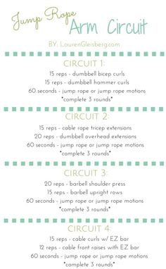 Jump Rope Arm Circuit | LaurenGleisberg.com for daily workouts, healthy recipes, motivation & more