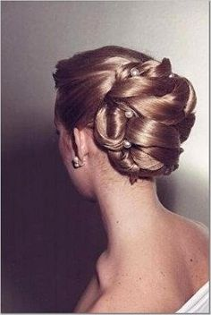 updo. great for long hair. elegant, simple