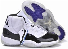 be490983ea285 Air Jordan 11 Retro 2013 Built In Cushion White Black Purple Mens Shoes