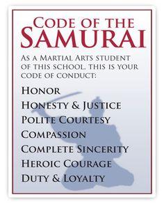 samurai code of conduct - Google Search