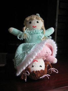 Ravelry: Topsy Turvy Doll pattern by Bernat Design Studio Knitting Patterns Free, Loom Knitting, Baby Knitting, Crochet Patterns, Free Knitting, Free Pattern, Crochet Ideas, Yarn Dolls, Knitted Dolls