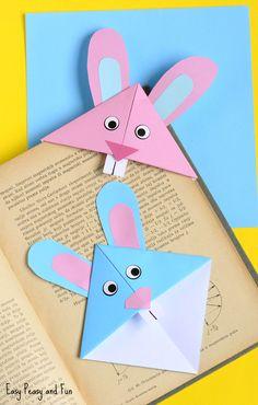 DIY: easter bunny corner bookmark
