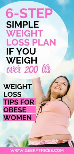 How to lose weight for obese women. Weight loss tips for beginners. This is how I lost weight when I weighed over 200 lbs. Lose weight in a week and in your stomach with this simple, healthy… Diet Plans To Lose Weight, Losing Weight Tips, Weight Loss Plans, Weight Loss Program, How To Lose Weight Fast, Weight Gain, Lost Weight, Diet Program, Over Weight