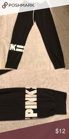 V/S black and white joggers. V/S black and white joggers. I have worn them awhile but still in good condition no rips or stains. Trendy and comfortable PINK Victoria's Secret Pants Track Pants & Joggers