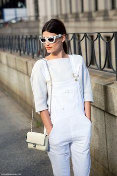 Hanneli Mustaparta wears Frame Denim's La Garcon Stretch Denim Overalls // One-Piece Wonders