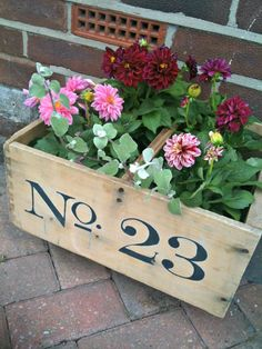 How to personalise an old wooden crate or trug | Tidy Away Today