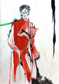 S E Y M O U R II Fashion Sketchbook, Art Sketchbook, Fashion Sketches, Fashion Illustrations, Illustration Techniques, Drawing Techniques, Drawing Sketches, Drawings, Man Illustration