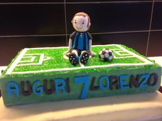 Inter supporter Cake Topper - made with sugar fondant