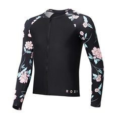 Roxy Girls Love The Surf Long Sleeve Zip Rash Vest | Rebel Sport Sports Brands, Roxy, Rebel, Wetsuit, Under Armour, Chloe, Surfing, Vest, Zip