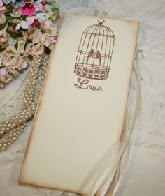 Wish Tree Wedding Tags - Vintage Birdcage - Love - Set of 25 by ShabbyPeaDesigns on Etsy https://www.etsy.com/listing/69418590/wish-tree-wedding-tags-vintage-birdcage