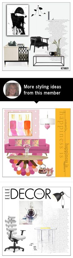 """""""October"""" by frenchfriesblackmg on Polyvore featuring interior, interiors, interior design, home, home decor, interior decorating, Flamant, L'Objet, Georg Jensen and Alexandra Von Furstenberg"""