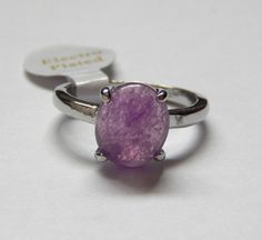 Sprinkle of Silver - Amethyst Silver Ring - Size 19