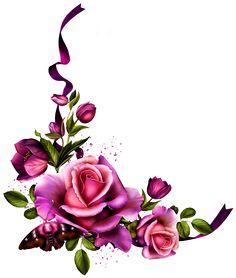 "Photo from album ""Romantic Mystique"" on Yandex. Art Floral, Borders And Frames, Antique Roses, Decoupage Paper, Flower Frame, Paper Background, Flower Cards, Flower Designs, Framed Art"