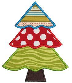 3 tier christmas tree applique design - Christmas Applique Designs