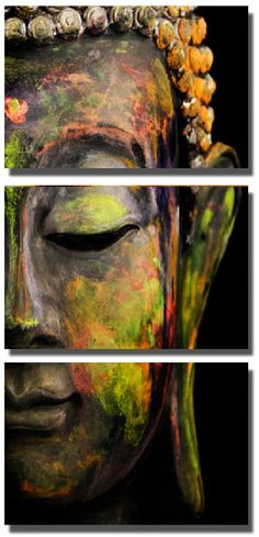 Modern colorful Buddha canvas prints painting By Numbers Home Decoration For DIY Art Oil Wall head portrait Picture 3 Panel
