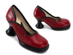 I've wanted these for a long time. If I ever think I might actually be able to buy them, and then try them on and find that I hate them, I will be so very sad. Fluevog Lily Darling shoes, cherry w/ black.