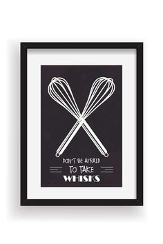 Funny Kitchen Art Print Whisk Quote Poster Kitchen by BlackPelican
