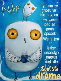 Evening Greetings, Goeie Nag, Warm Bed, Good Night Sweet Dreams, Good Night Quotes, Afrikaans, Qoutes, Night Night, Wisdom